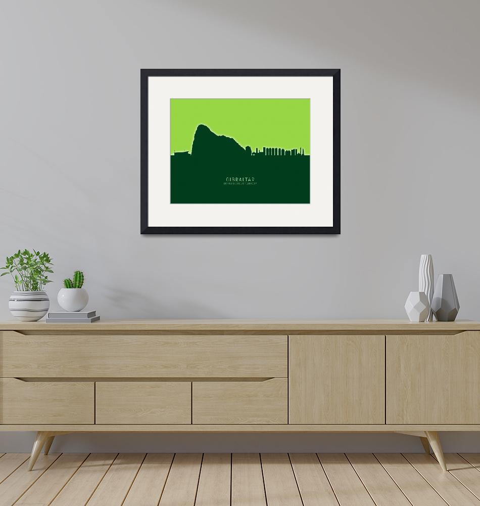 """Gibraltar Skyline""  (2020) by ModernArtPrints"