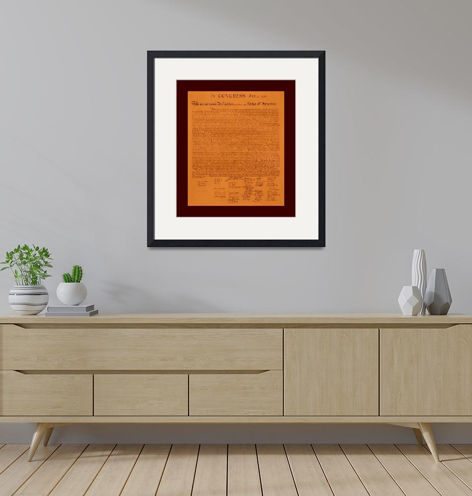 """""""Declaration of Independence aged with medium borde""""  (2013) by TheNorthernTerritory"""