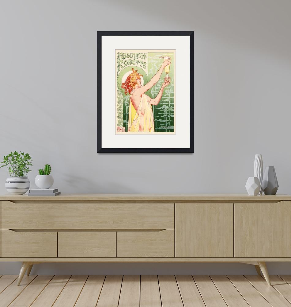 """""""Absinthe Robette by Privat-Livemont Vintage Poster""""  by FineArtClassics"""