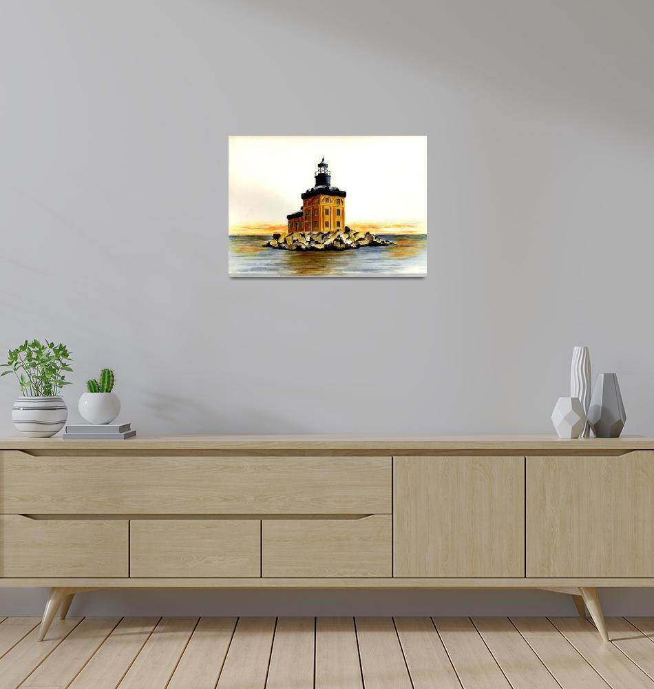 """Toledo Harbor Lighthouse""  (2003) by vigliotti"