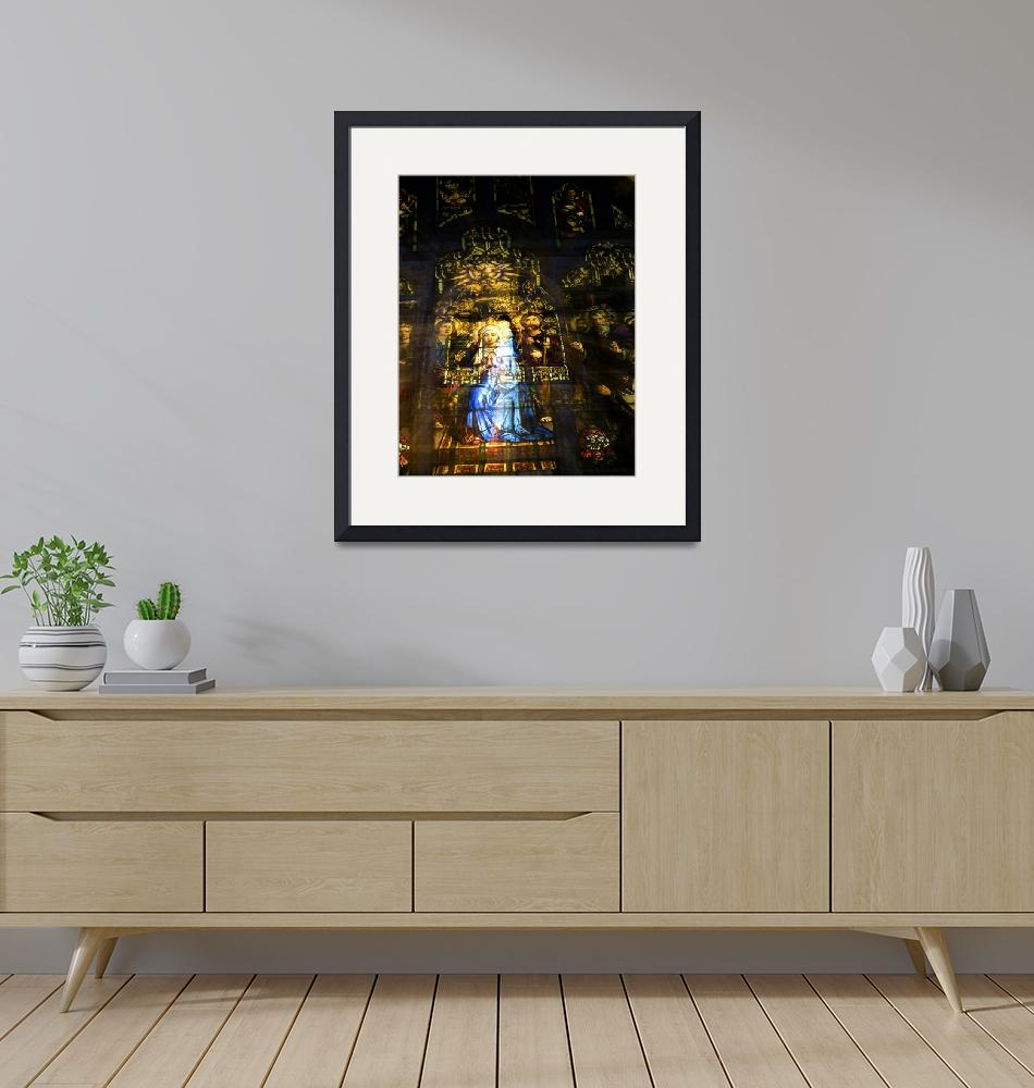 """""""Mary Receiving the Holy Sprit""""  (2008) by LessardArt"""