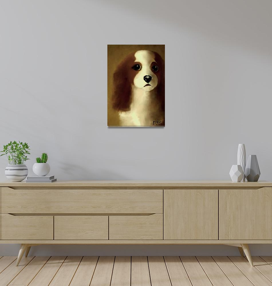 """""""1 - Mercedes - Our Cavalier King Charles Spaniel -""""  (2014) by dianestrain"""