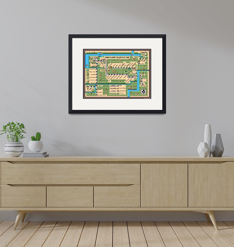 """""""Vancouver Skytrain Map (2015) in SMB3 Style""""  (2014) by originaldave77"""