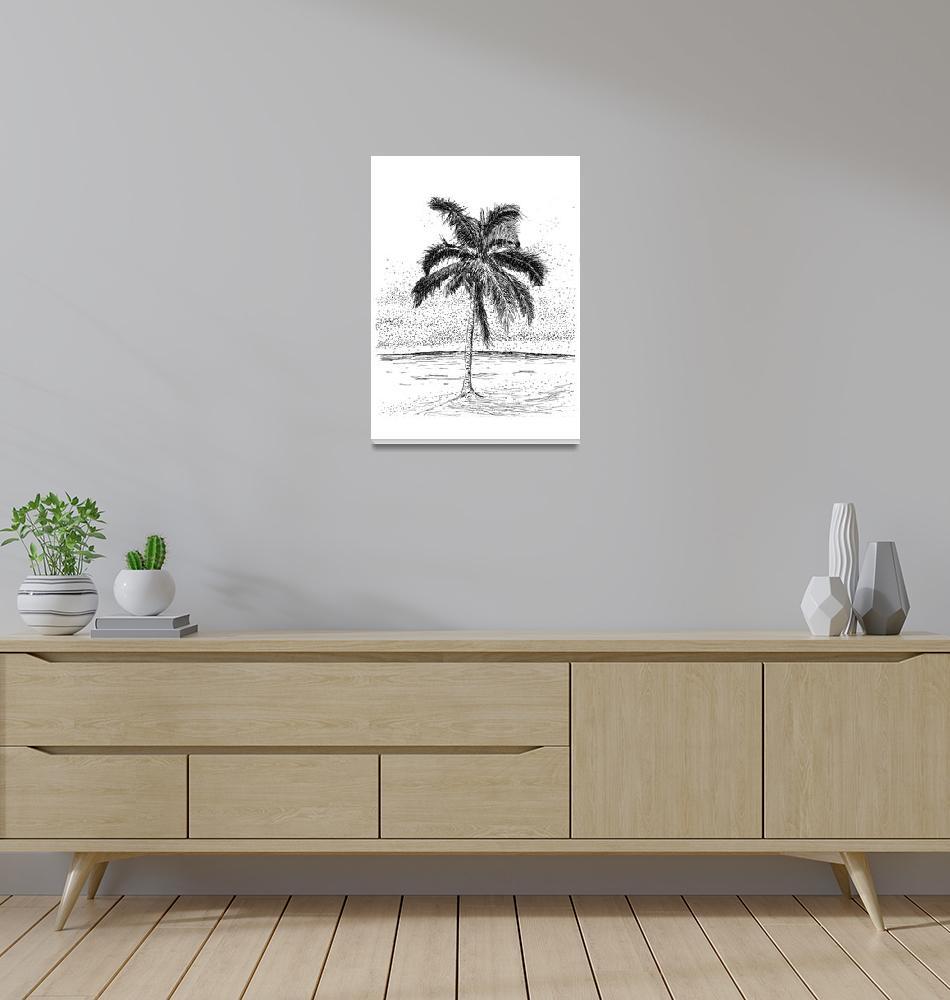 """""""Beautiful Bermuda Palm Tree""""  (2015) by NaughtyJesus"""
