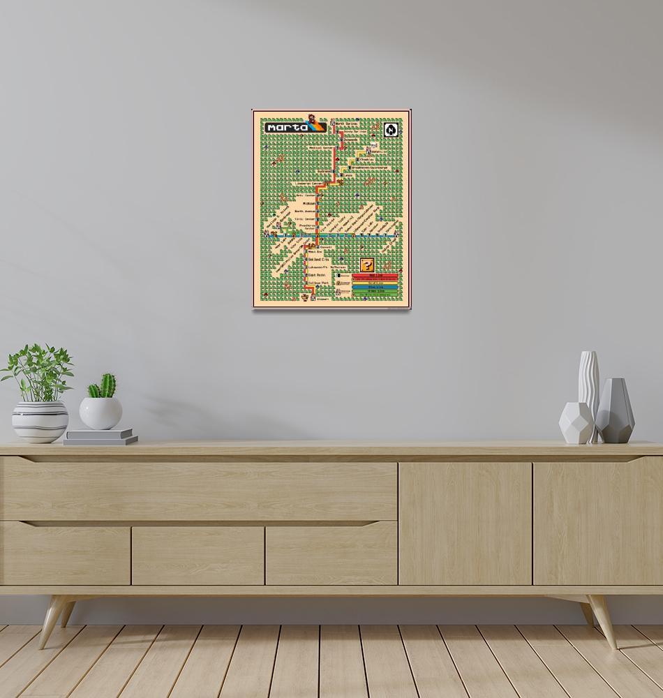 """""""Atlanta MARTA Map - Super Mario 3 Style""""  (2013) by originaldave77"""