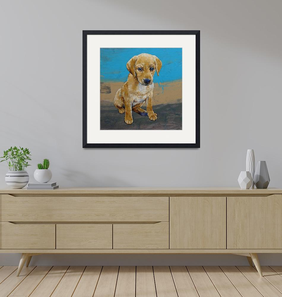 """Yellow Lab Puppy""  by creese"