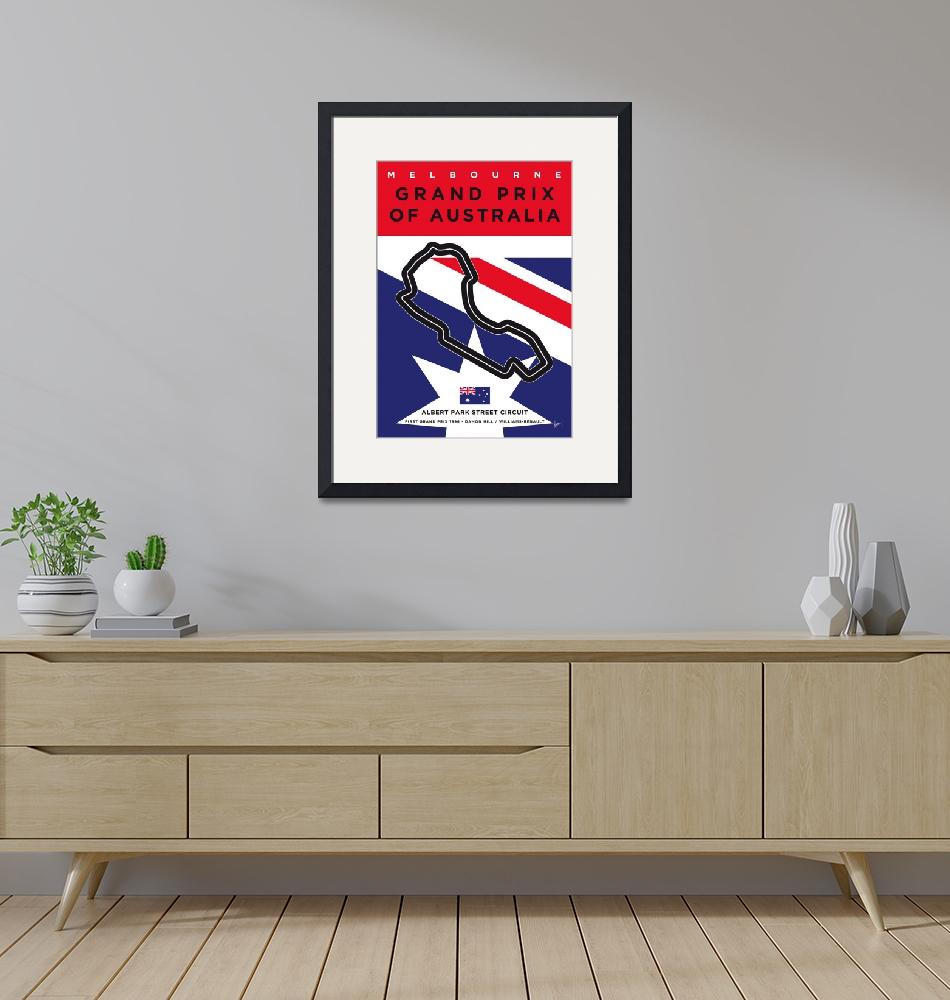 """""""My F1 MELBOURNE Race Track Minimal Poster""""  by Chungkong"""