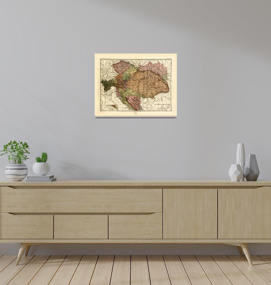"""Rand McNally Map of Austria-Hungary (1906)""  by ArtHistory"