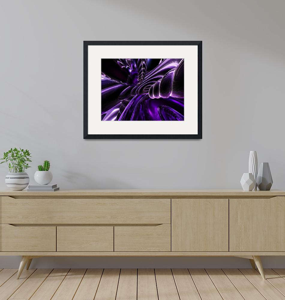 """""""Purple Delusions Abstract"""" (2014) by AlexButler"""