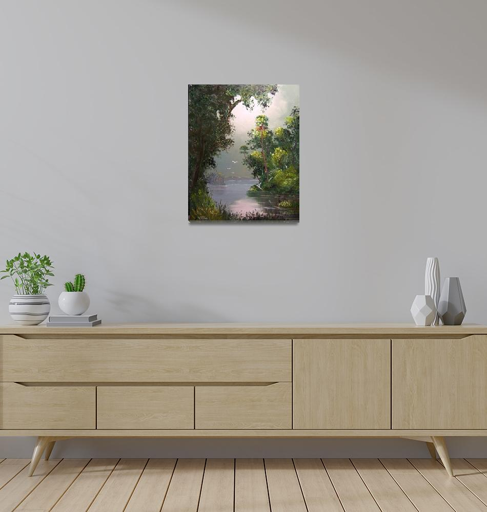 """""""Misty River View""""  (2008) by mazz"""