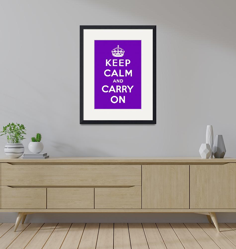 """Purple Keep Calm And Carry On 6""  by oldies"