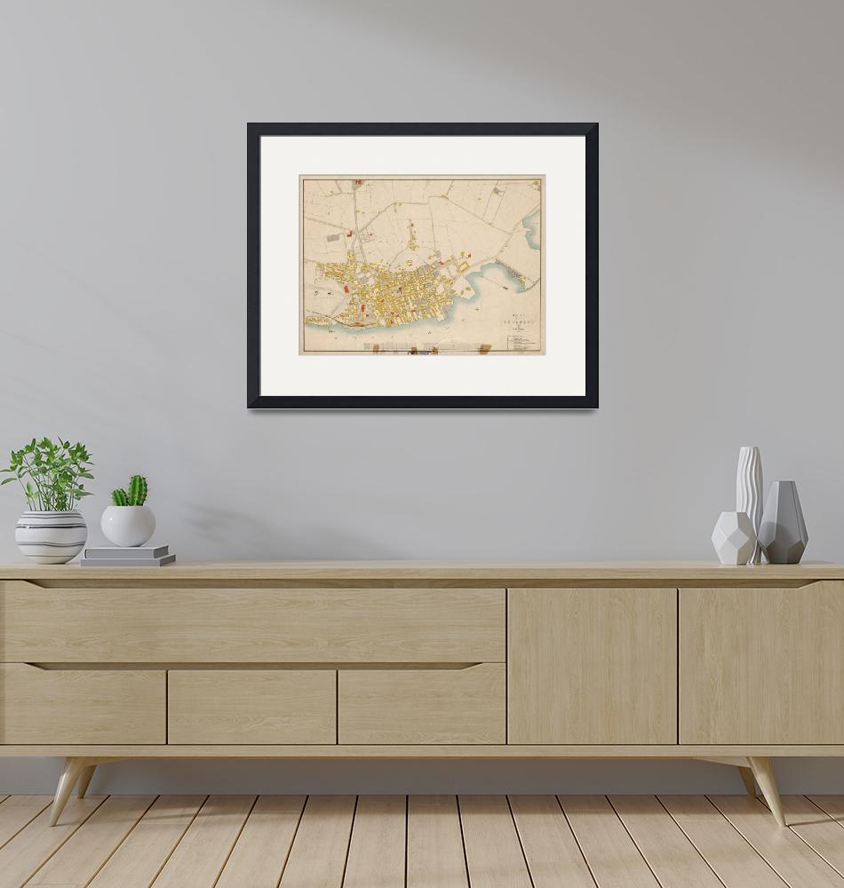 """""""Vintage Map of Tonsberg Norway (1883)""""  by Alleycatshirts"""
