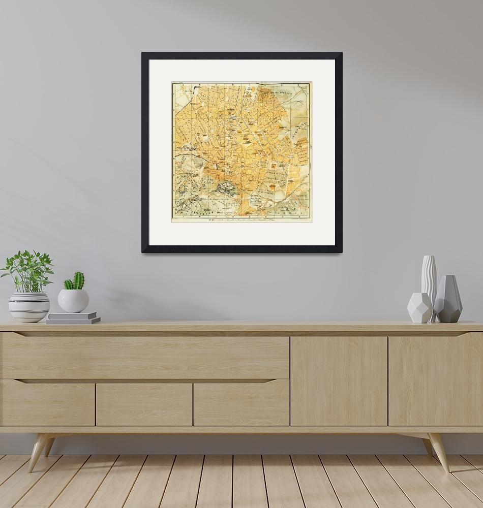 """""""Vintage Map of Athens Greece (1894)""""  by Alleycatshirts"""
