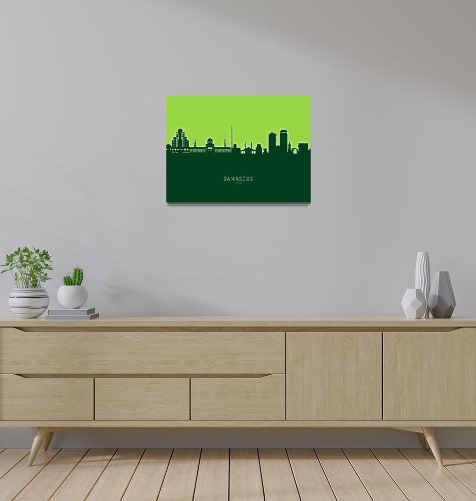 """Damascus Syria Skyline""  (2020) by ModernArtPrints"