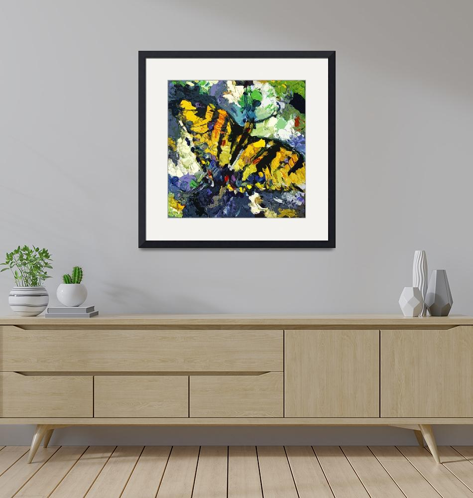 """Swallowtail Butterfly Modern Decorative Art""  (2012) by GinetteCallaway"