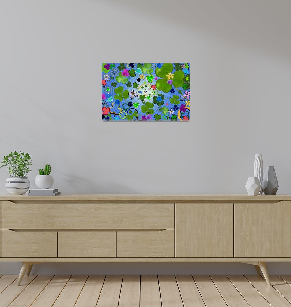 """""""Find the four leaf clover""""  (2012) by paintingsbygretzky"""