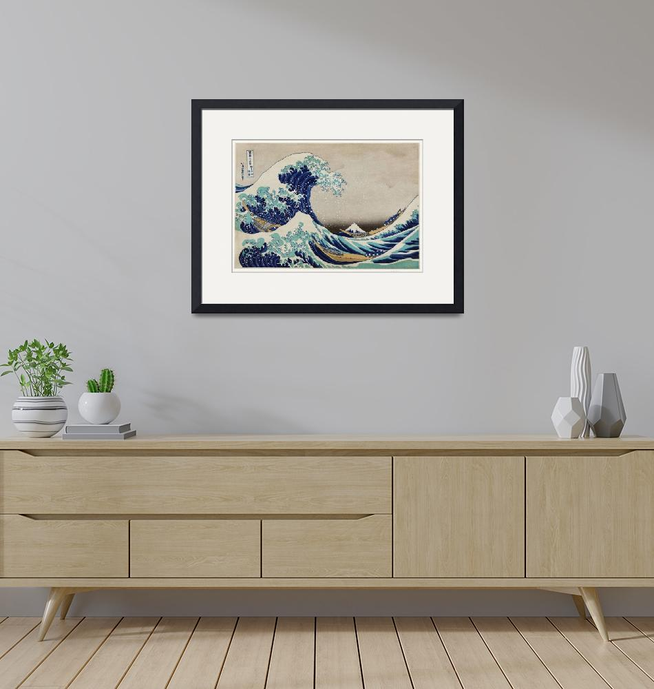 """The Great Wave by Katsushika Hokusai""  by FineArtClassics"
