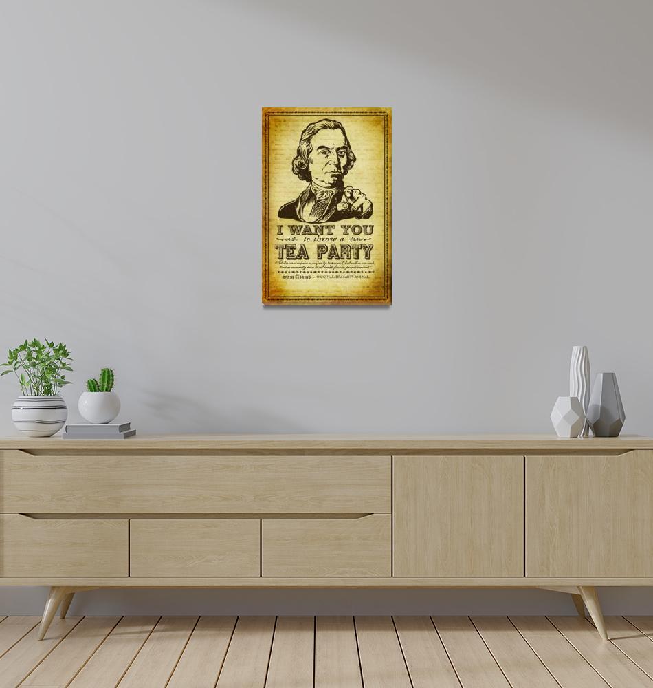 """Sanuel Adams Tea Party Poster""  (2009) by libertymaniacs"