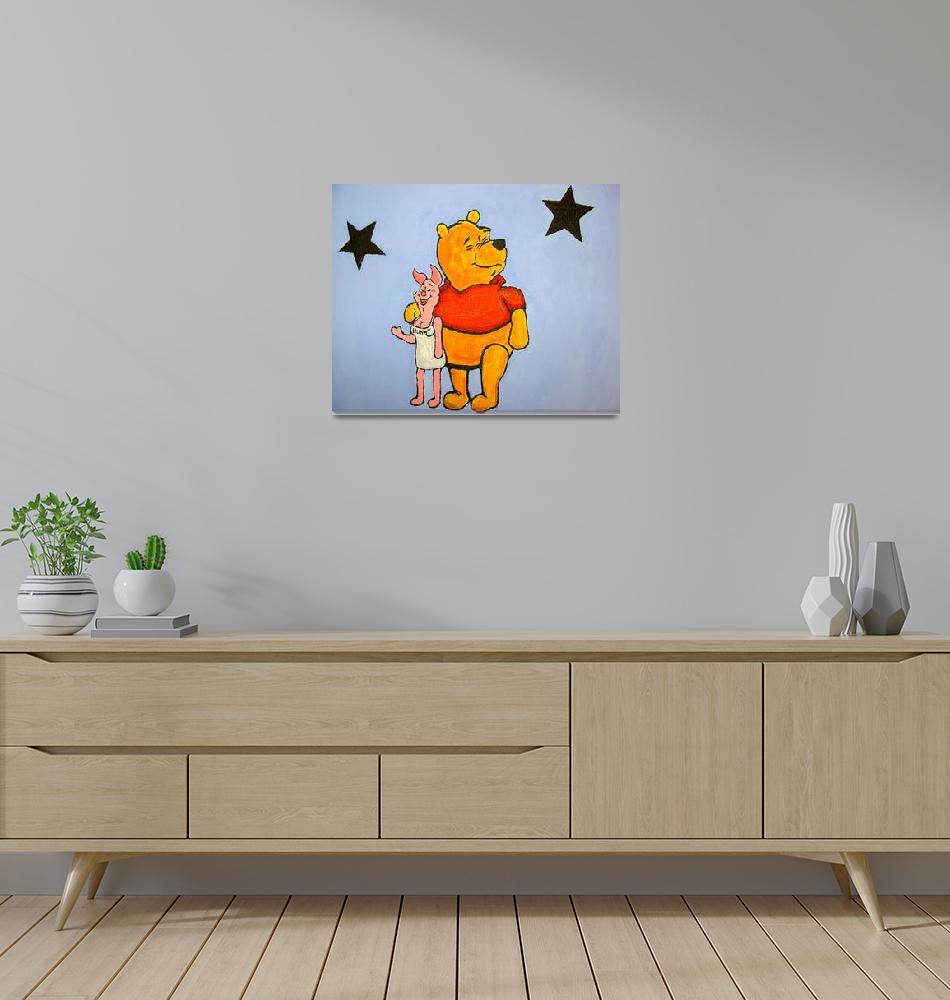 """""""Pooh & Hunny""""  (2005) by milliondollartodd"""
