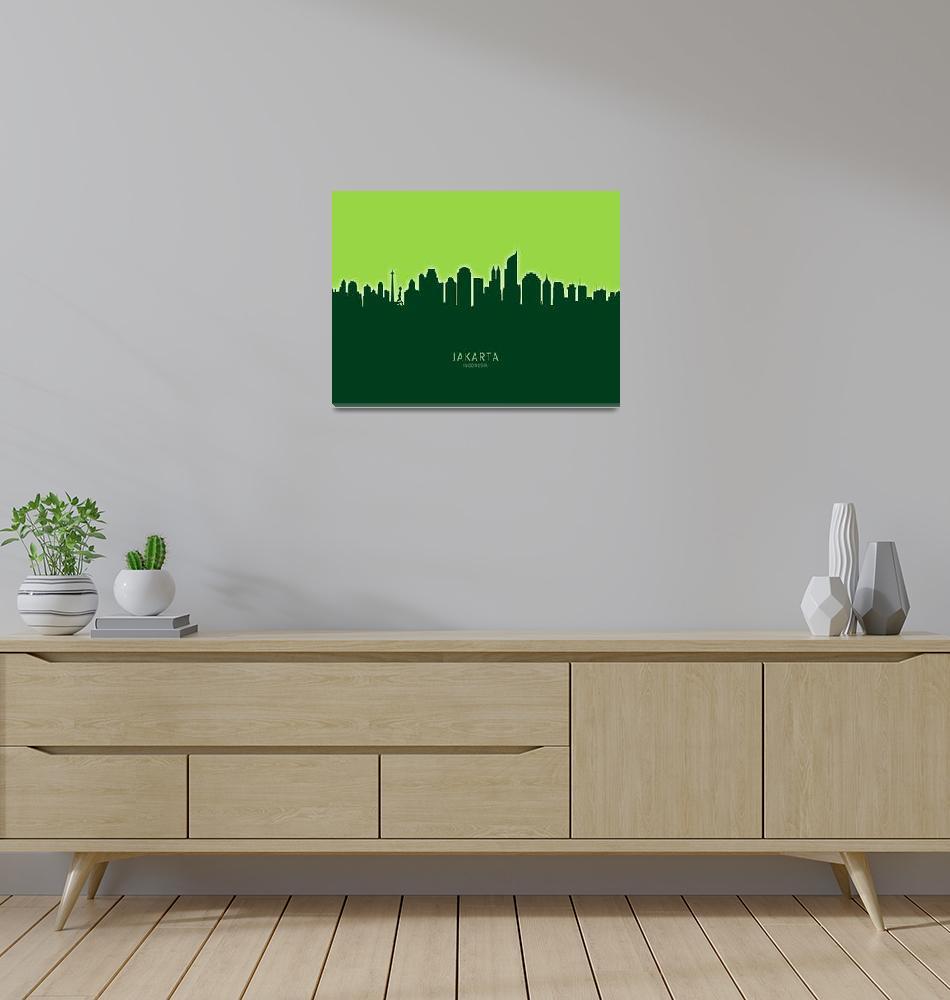 """""""Jakarta Skyline Indonesia""""  (2020) by ModernArtPrints"""