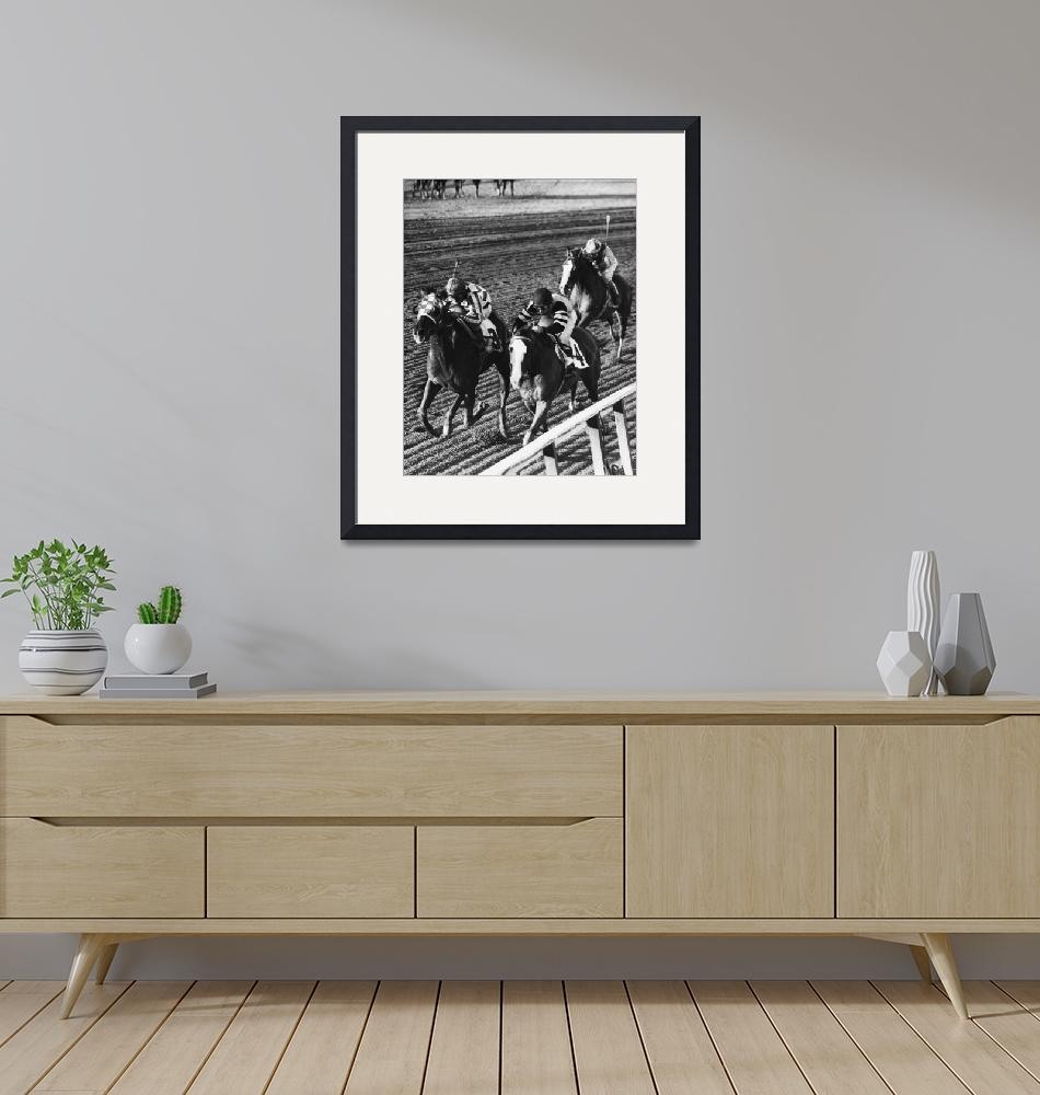 """Vintage Horse Racing First Family""  by RetroImagesArchive"