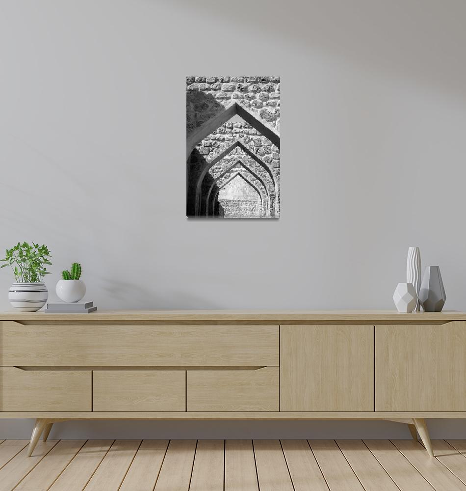 """""""Arches in Bahrain Fort""""  (2007) by DonnaCorless"""