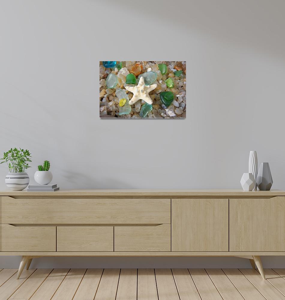 """Starfish Fine Art Photography Seaglass Agates""  (2014) by BasleeTroutman"