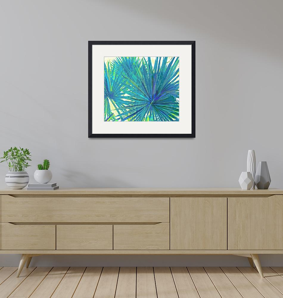"""""""abstract blue palms""""  (2012) by pietrastone"""