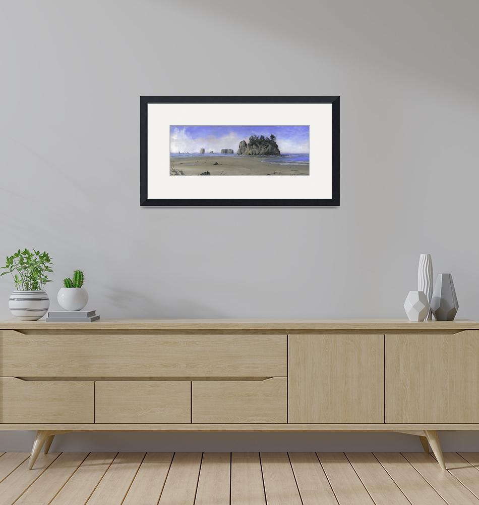 """""""SRG: Second Beach, Olympic N. P. Large""""  by sacorivergraphics"""