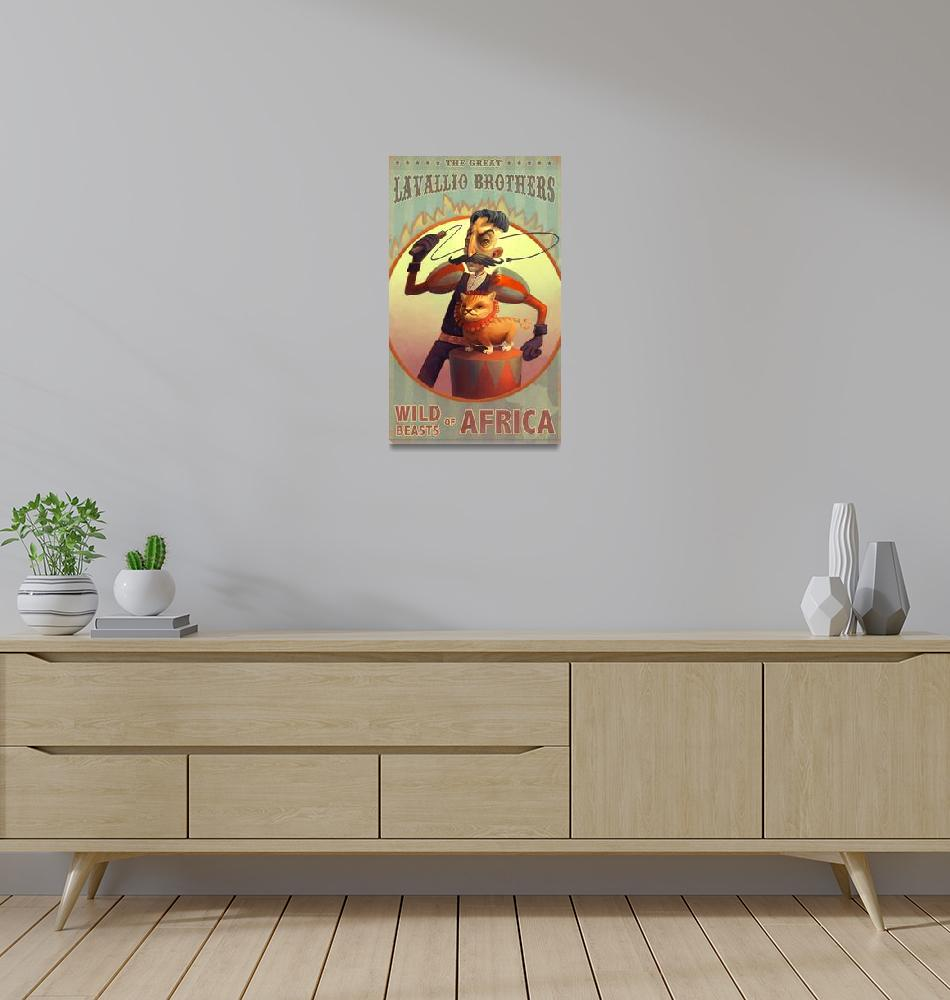 """""""Lion Tamer Circus Poster""""  (2009) by Karen"""