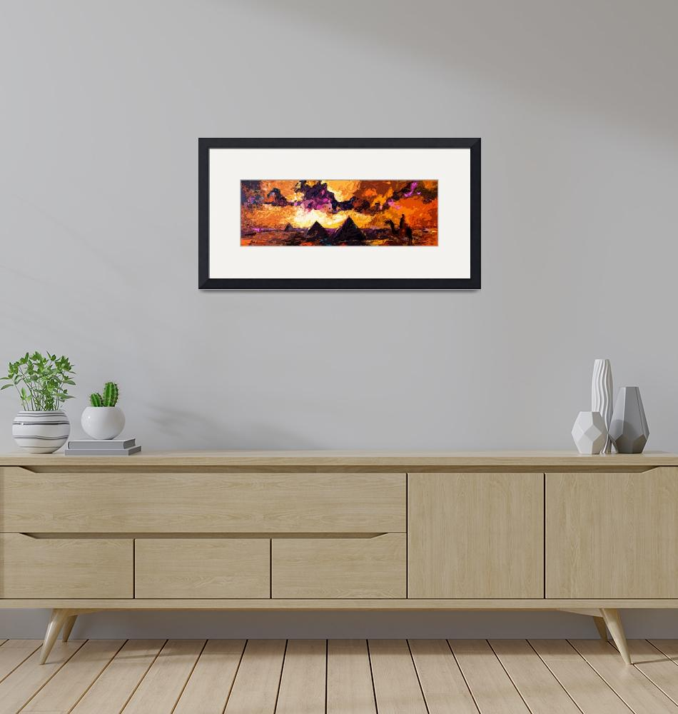 """""""Abstract Modern Panoramic Egypt Pyramids""""  (2012) by GinetteCallaway"""