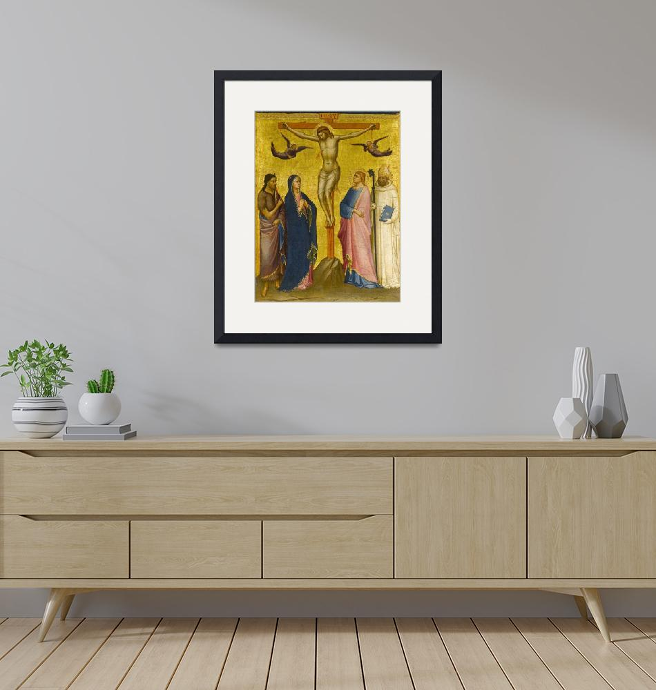 """""""Mariotto di Nardo~The Crucifixion with St. John th""""  by Old_master"""