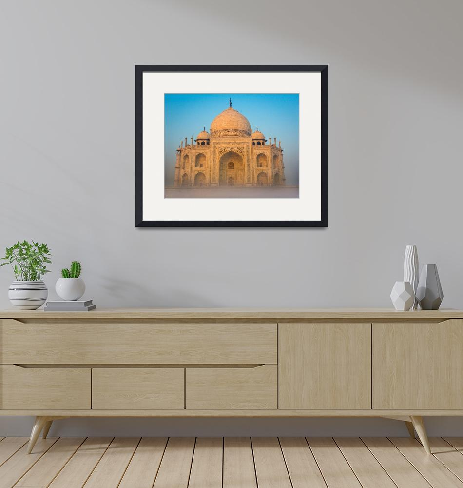 """Glowing Taj Mahal""  (2013) by Inge-Johnsson"
