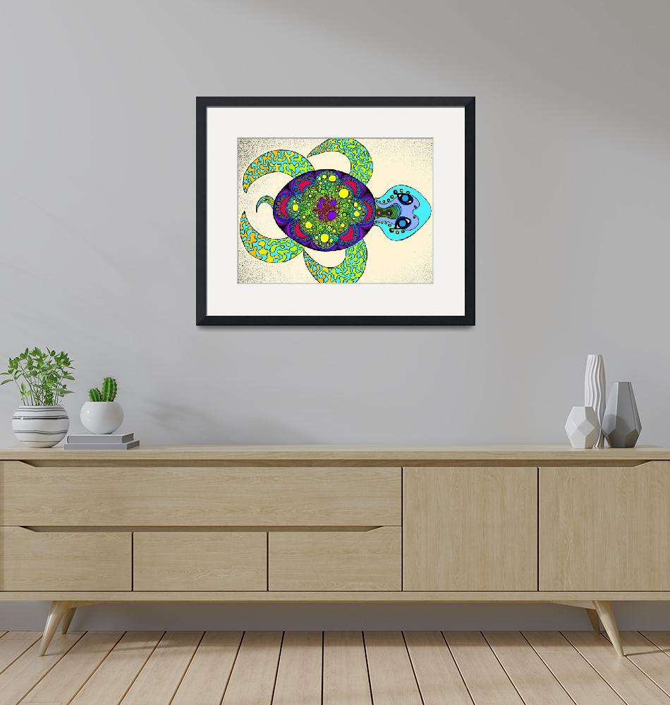"""""""Chakra Turtle""""  by Rawlcolor"""