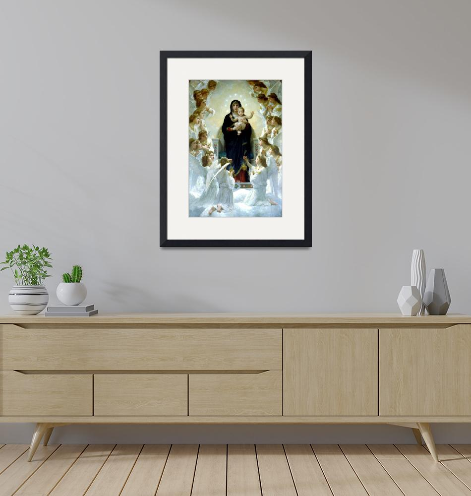"""""""Virgin Mary and Child Our Lady of the Angels Art""""  (1910) by Maggy"""