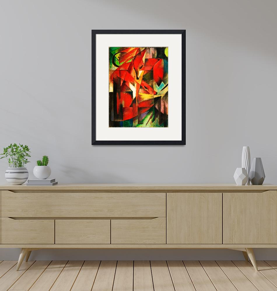 """""""Franz Marc The Foxes Red Fox Modern Art Painting""""  by masterpiecesofart"""