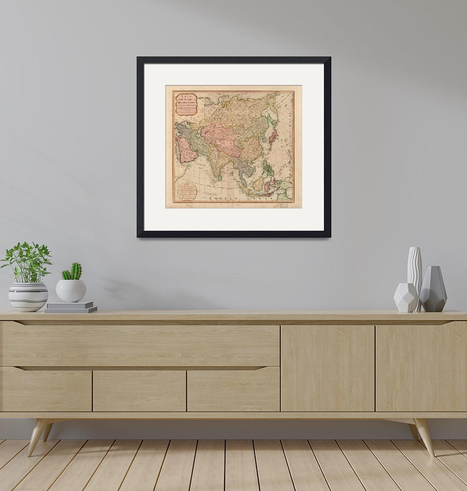 """Vintage Map of Asia (1799)""  by Alleycatshirts"