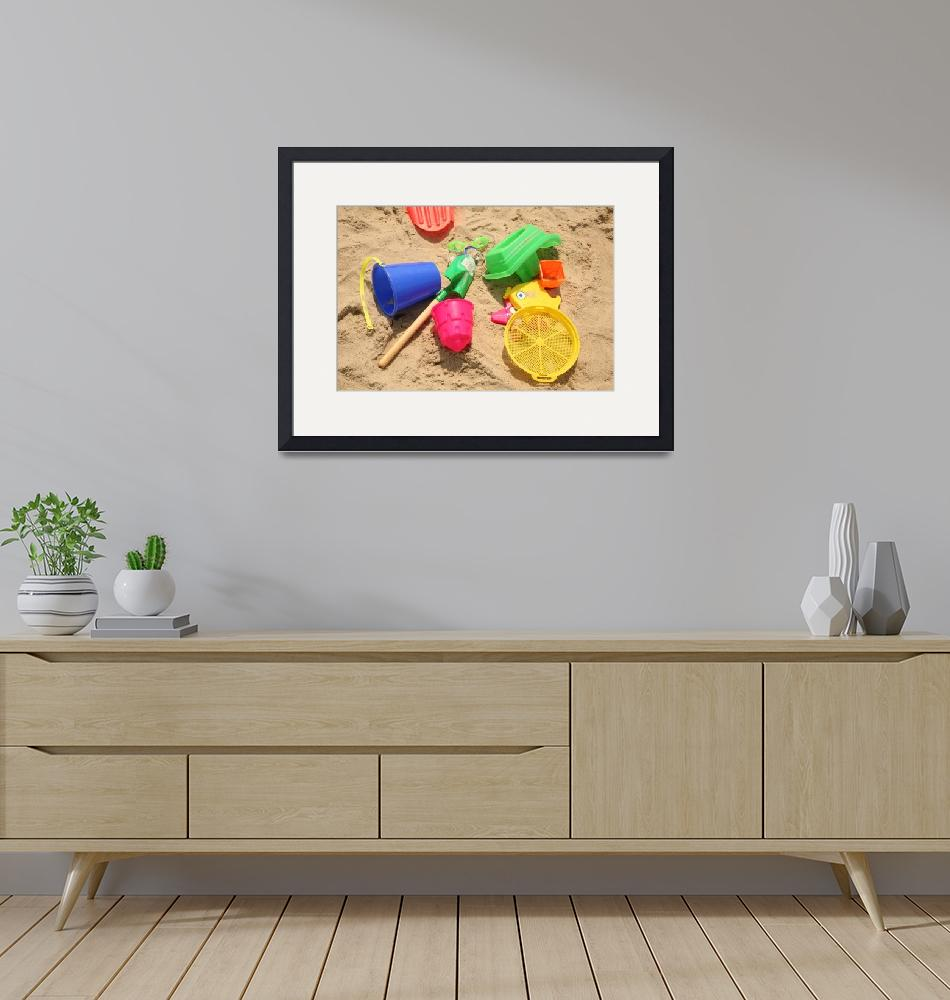 """""""Colorful Beach Toys""""  (2011) by DonnaCorless"""