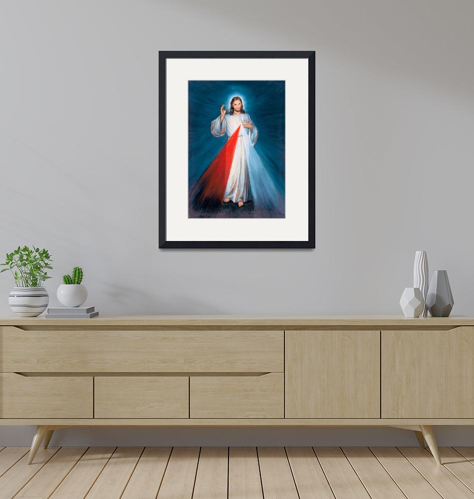 """""""Jesus Christ Divine Mercy Catholic Picture Art""""  (1910) by Maggy"""