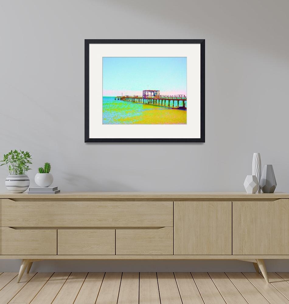 """""""Painted Fishing Pier""""  by ChrisAndruskiewicz"""