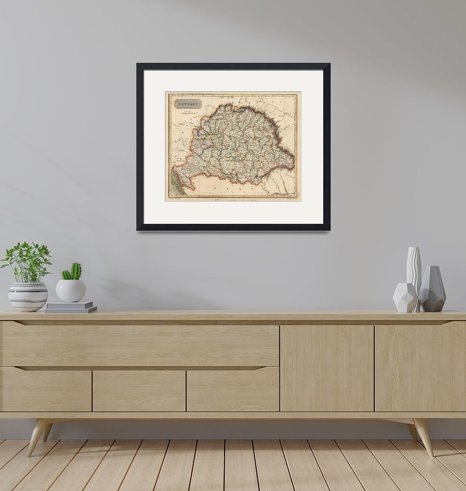 """""""Vintage Map of Hungary (1817)""""  by Alleycatshirts"""