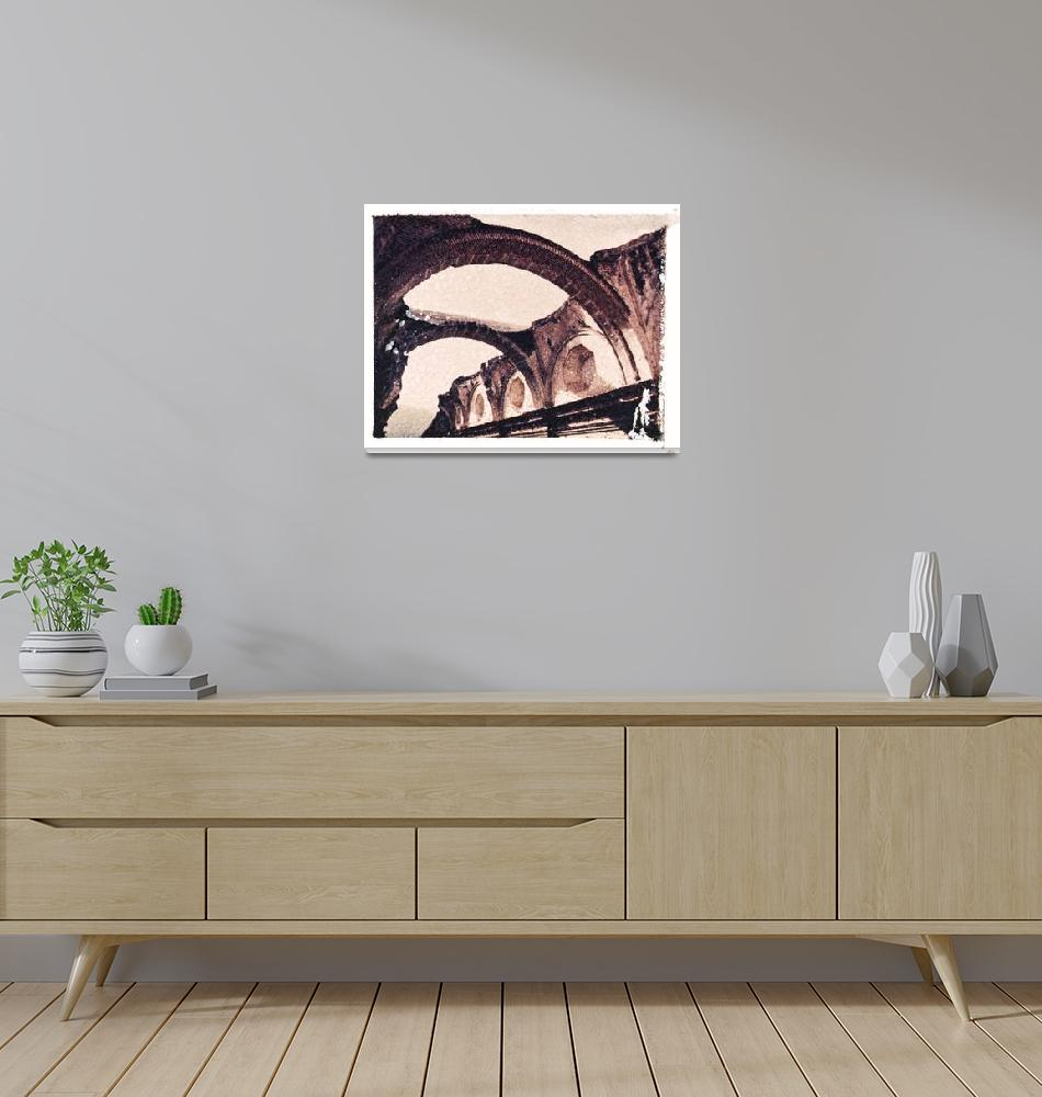 """Ruins of Las Capuchinas""  (2000) by GalleriaSojourn"