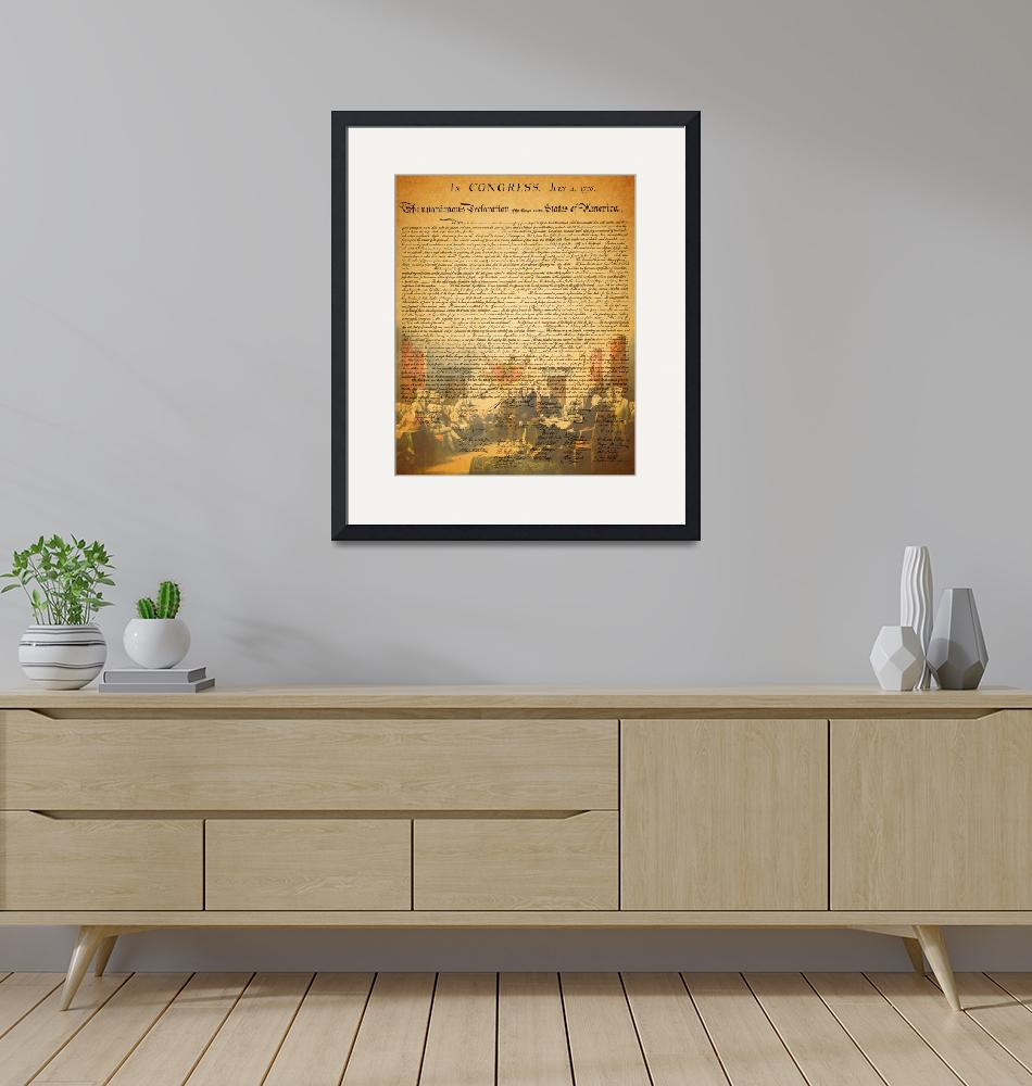 """The United States Declaration of Independence"" by wingsdomain"