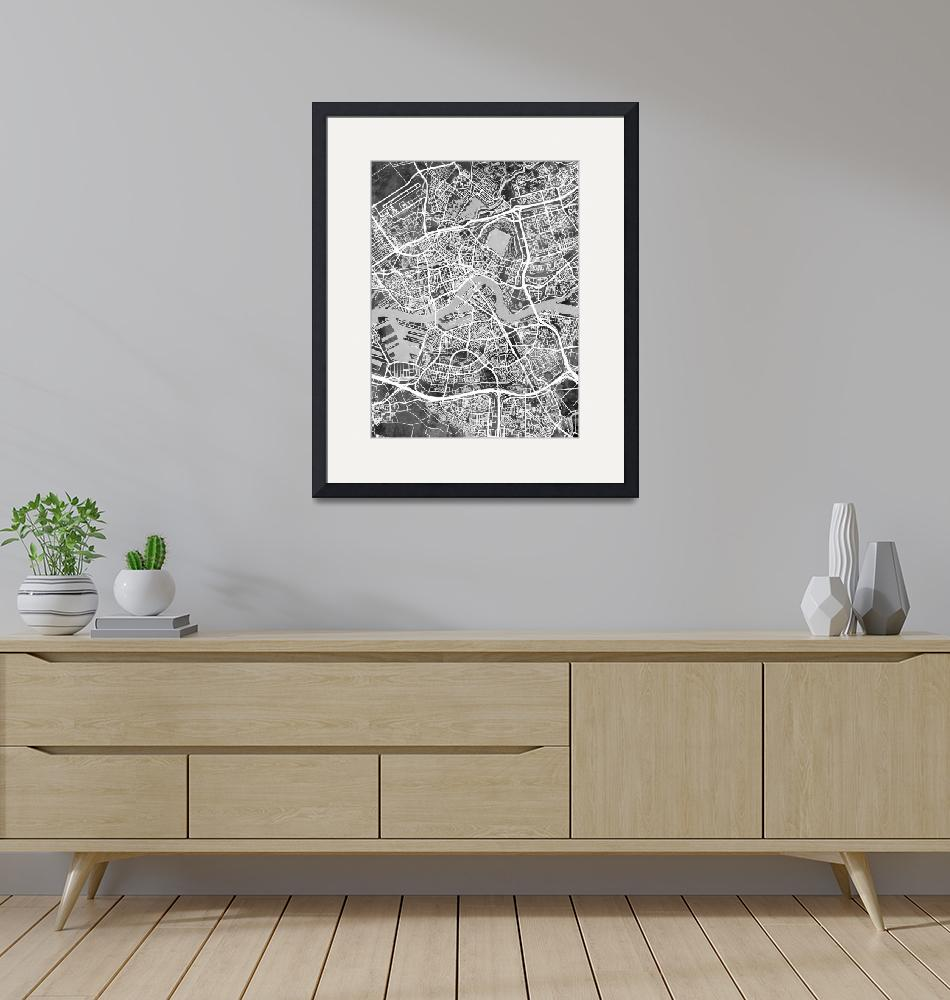 """Rotterdam Netherlands City Map""  (2018) by ModernArtPrints"
