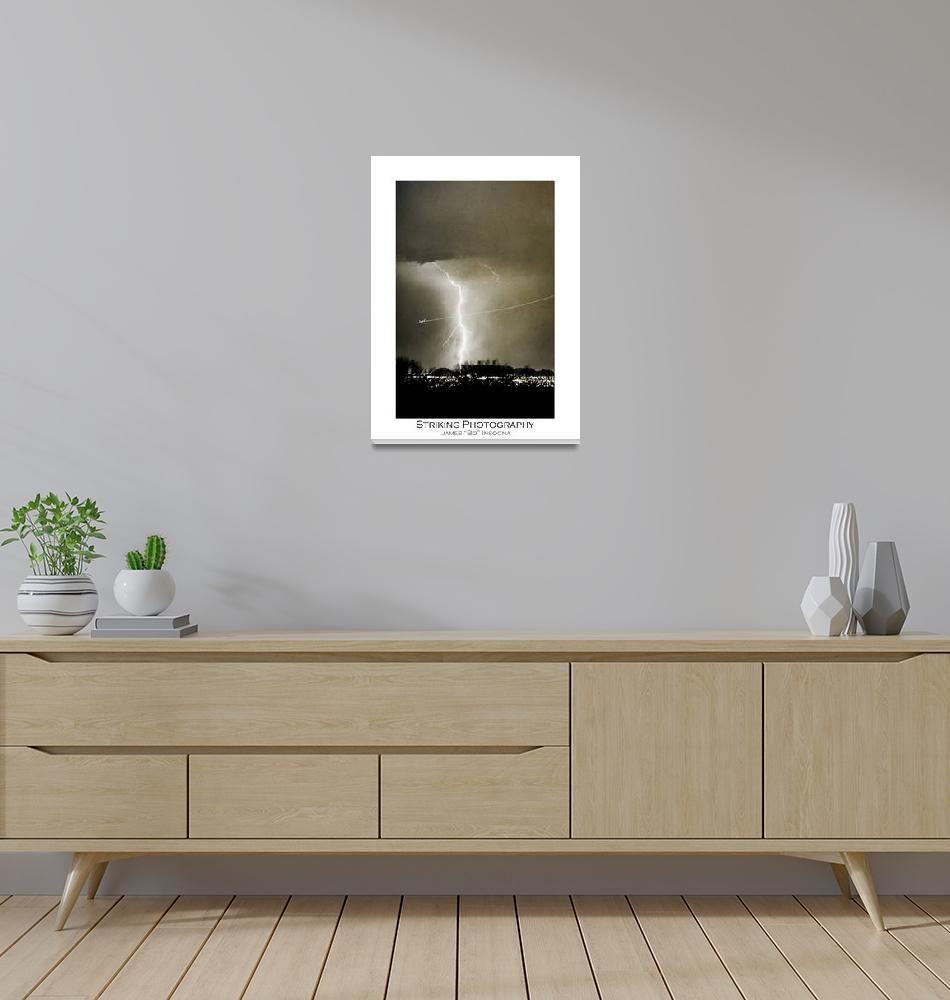"""""""Bo Trek - Lightning Strike - City Lights - Poster""""  (2009) by lightningman"""