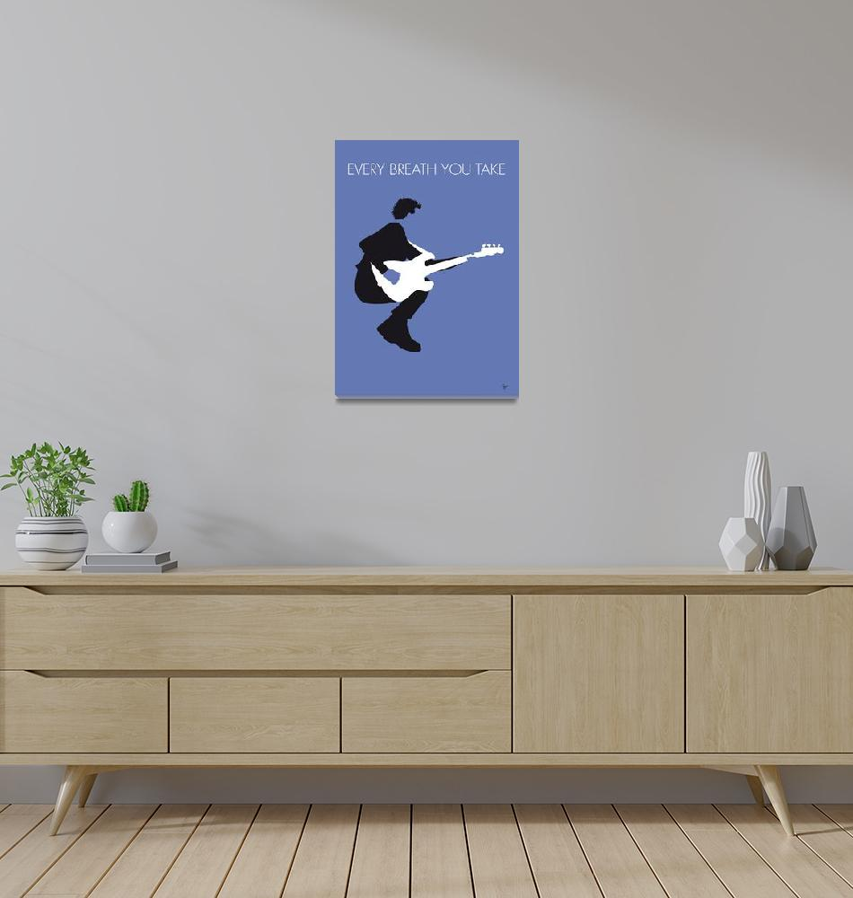 """""""No058 MY THE POLICE Minimal Music poster""""  by Chungkong"""