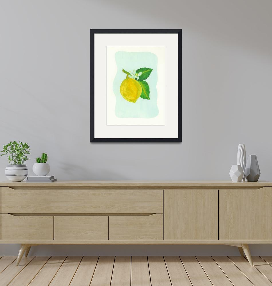 """LEMON (Citrus limonum)""  (2008) by EveHoward"