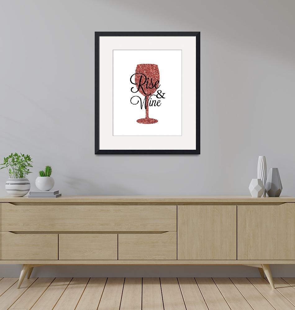 """""""Rise and Wine Red""""  by miscstudios"""