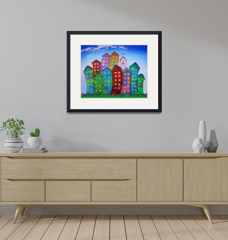 """""""High and Happy Houses""""  (2010) by ArtofHeart"""
