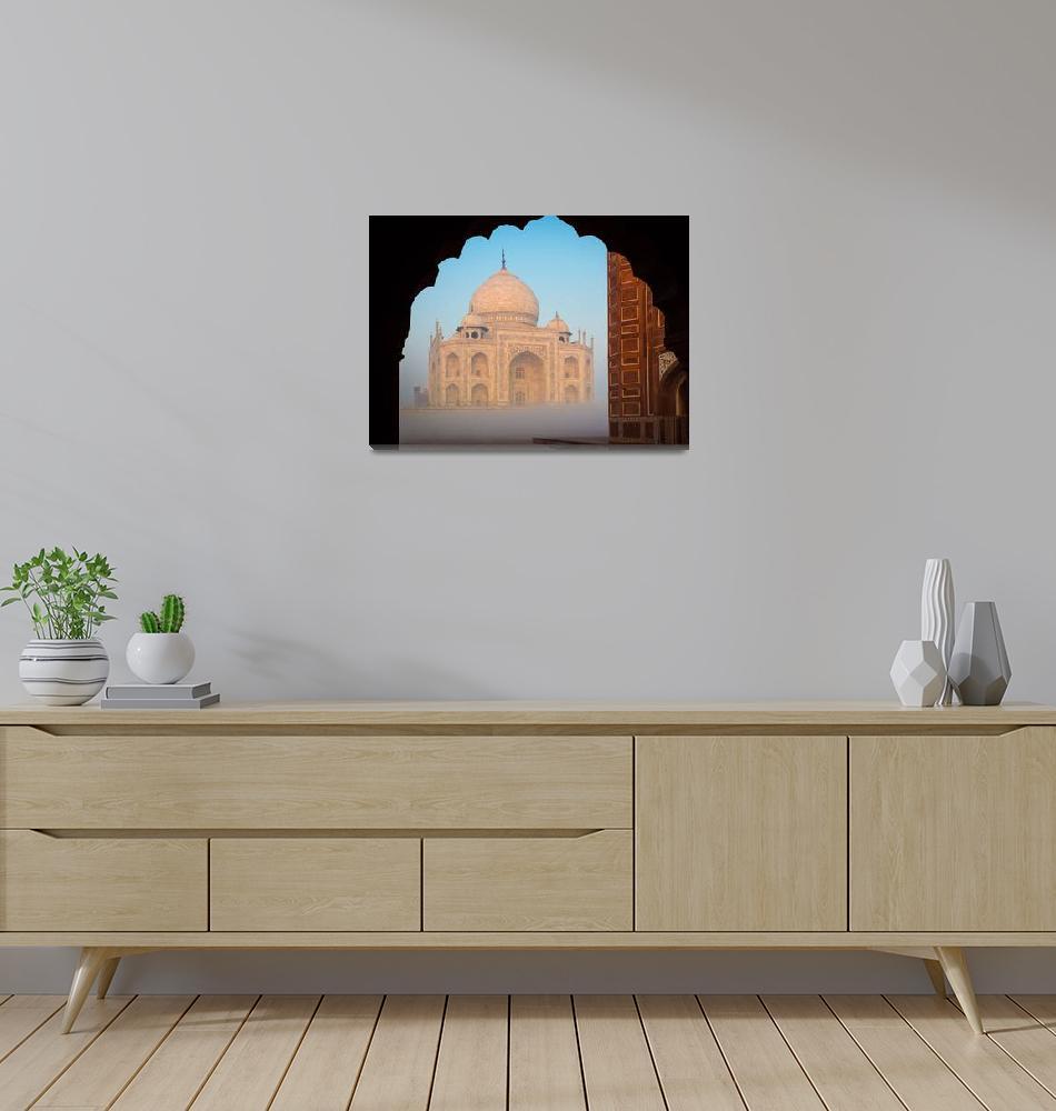 """Taj Mahal Dawn""  (2013) by Inge-Johnsson"